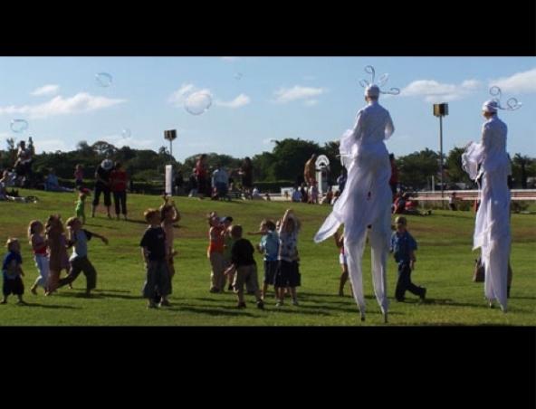 Brisbane Stilt Walkers - MaAmselle Claire - Roving Entertainers - Performers